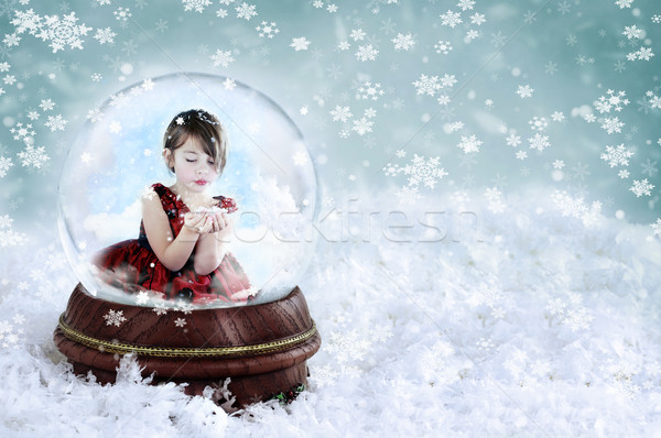 Girl in Snow Globe Stock photo © StephanieFrey