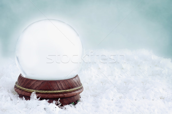 Stock photo: Blank Snow Globe