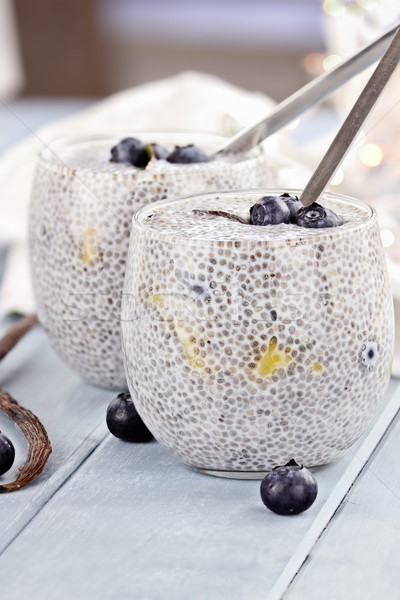 Chia Seed Pudding Stock photo © StephanieFrey