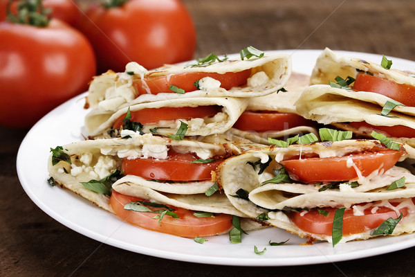 Goat Cheese and Tomato Quesadillas Stock photo © StephanieFrey
