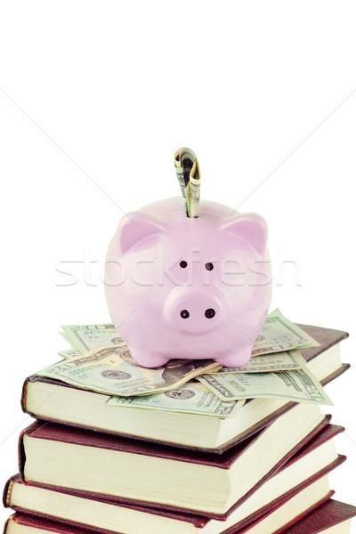 Piggy Bank and School Books Stock photo © StephanieFrey