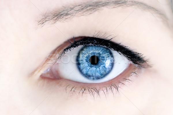 Blauw oog macro mooie extreme Stockfoto © StephanieFrey