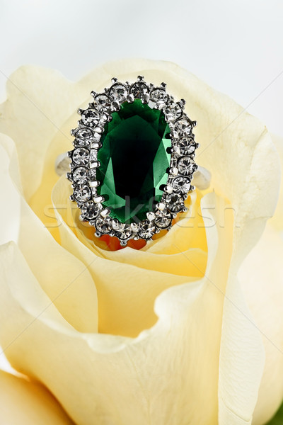 Emerald and Diamond Ring Stock photo © StephanieFrey