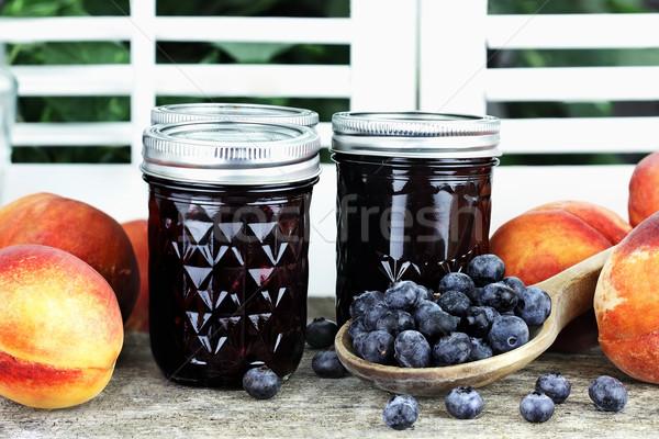 Blueberry Peach Preserves Stock photo © StephanieFrey