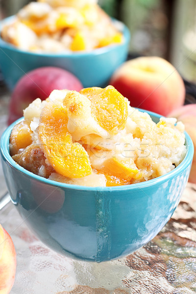 Peach Cobbler Stock photo © StephanieFrey