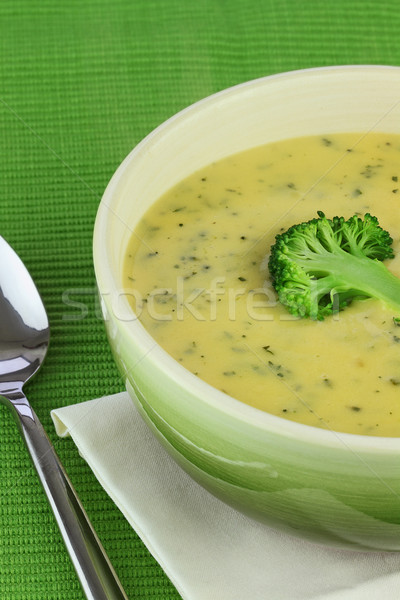Cream of Broccoli Soup Stock photo © StephanieFrey