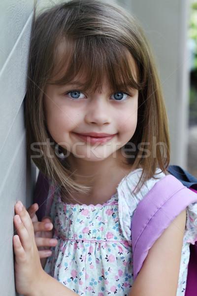 Kind boek zak portret jonge Stockfoto © StephanieFrey