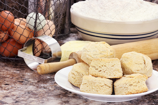 Stock photo: Country Biscuits