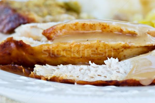 Turkey Dinner Stock photo © StephanieFrey