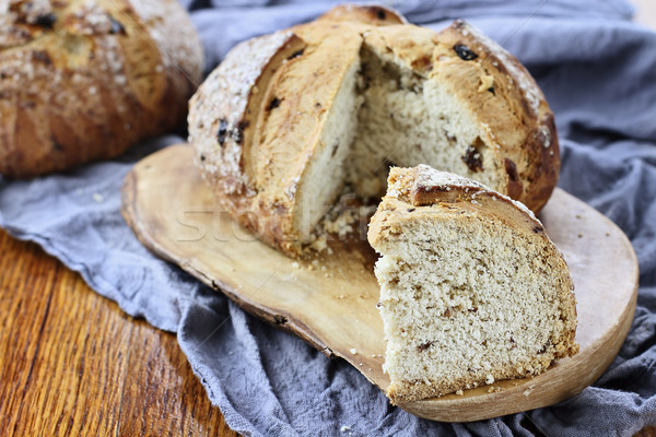 Slice of Irish soda bread Stock photo © StephanieFrey