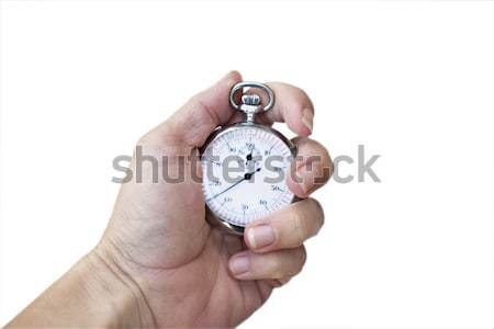 Hand holding a production watch/stop watch Stock photo © StephanieFrey
