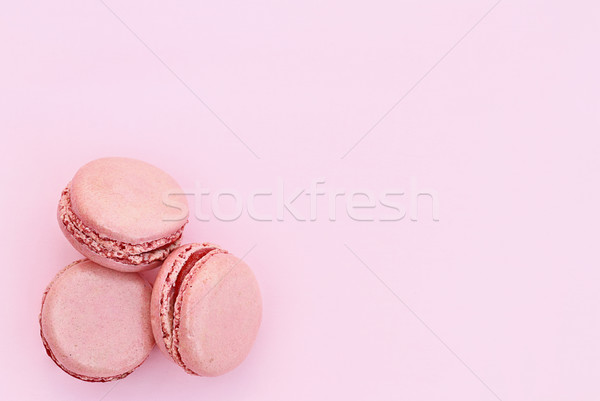 Three Pink Macarons Stock photo © StephanieFrey
