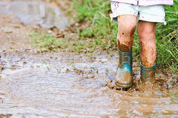 Mud Puddles Stock photo © StephanieFrey