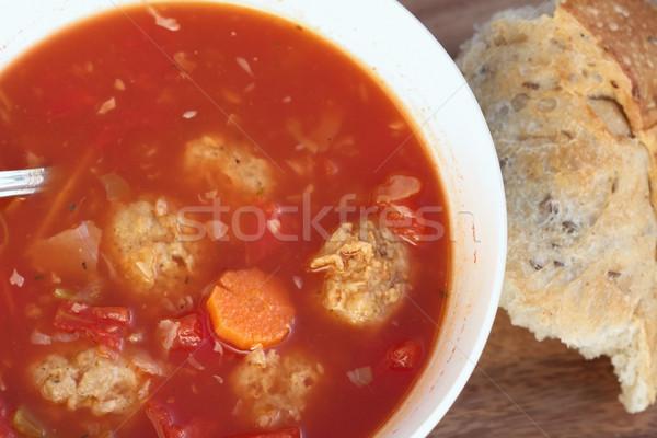 Meatball Soup Stock photo © StephanieFrey