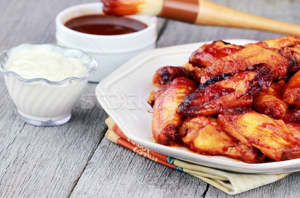 Chicken wings Stock photo © StephanieFrey