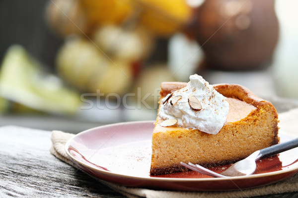 Pumpkin Cheesecake Pie Stock photo © StephanieFrey