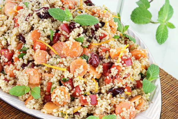 Couscous Salat orange Karotten rot Stock foto © StephanieFrey