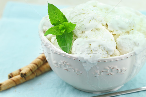 Vanilla Ice Cream Stock photo © StephanieFrey