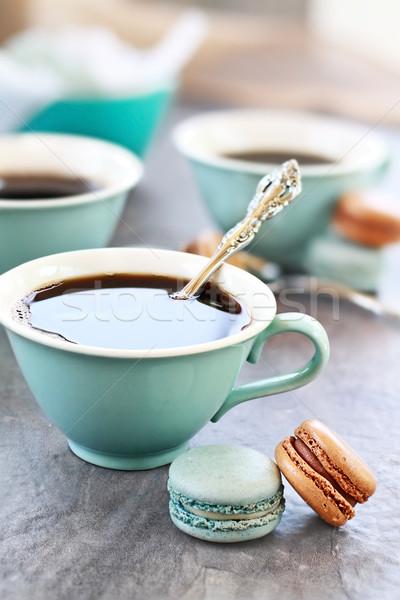 кофе macarons Extreme мелкий Сток-фото © StephanieFrey