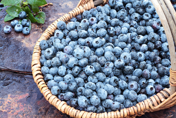 Stock photo: Fresh Blueberries in a Basket