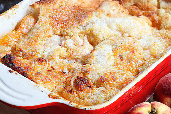 Fresh Peach Cobbler Stock photo © StephanieFrey