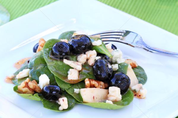 Spinach and Gorgonzola Salad Stock photo © StephanieFrey