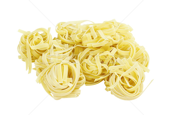 Group of Italian Pasta Fettuccine Nest Stock photo © StephanieFrey