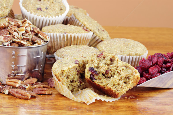 Oatmeal Cranberry Muffins Stock photo © StephanieFrey