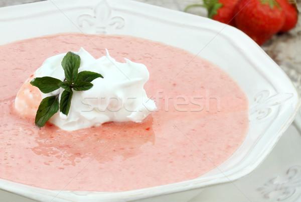 Strawberry Soup Stock photo © StephanieFrey