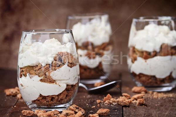 Chocolate Chip Cookie Cheesecake Parfaits Stock photo © StephanieFrey