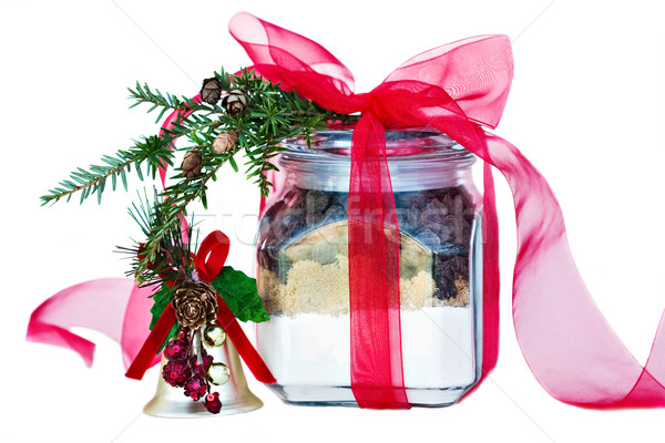Foto stock: Ingredientes · chocolate · chips · cookies · jar · Navidad