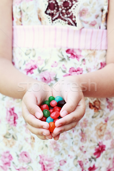 Jellybeans in hand Stock photo © StephanieFrey