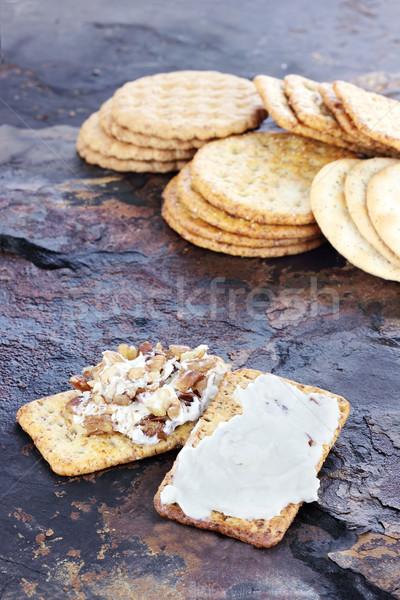 Schimmelkaas geserveerd variëteit rock kaas steen Stockfoto © StephanieFrey