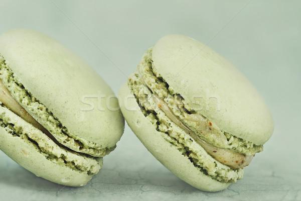Vintage macarons два зеленый Сток-фото © StephanieFrey
