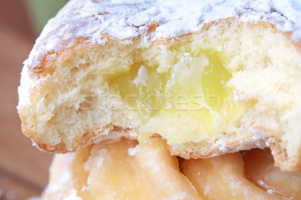Lemon filled jelly donut Stock photo © StephanieFrey