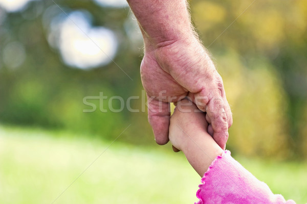 fathers and daughters hands  Stock photo © StephanieFrey