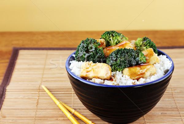 Stock photo: Tofu and Broccoli