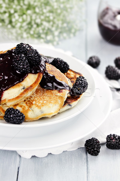 Pancakes and Fresh Berries Stock photo © StephanieFrey