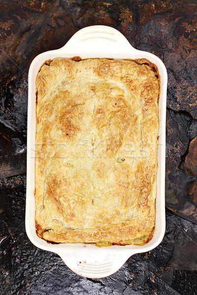 Chicken Pot Pie 2 Stock photo © StephanieFrey