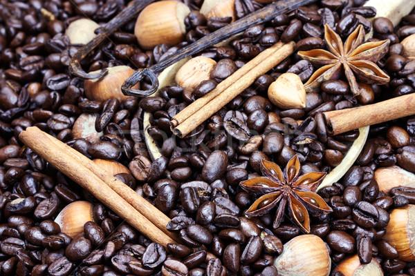 Gourmet Flavored Coffee Ingredients Stock photo © StephanieFrey