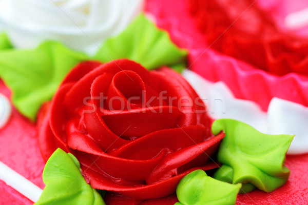 Rose Detail Cake Icing  Stock photo © StephanieFrey