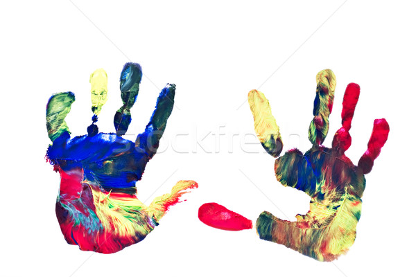 Painted Handprints Stock photo © StephanieFrey