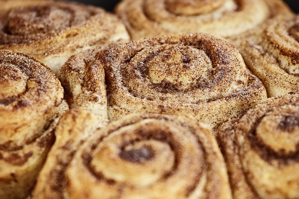 Cinnamon Buns Macro Stock photo © StephanieFrey