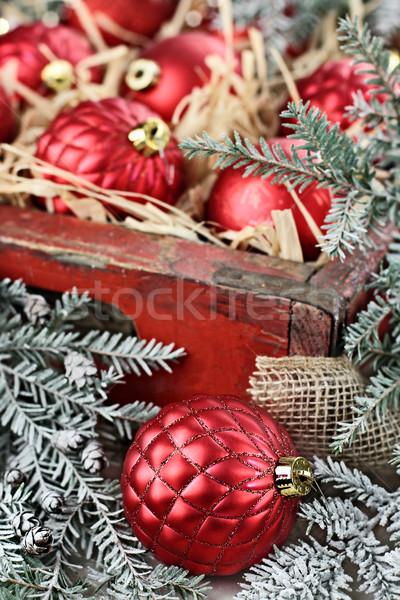 Old Fashion Christmas Ornaments Stock photo © StephanieFrey