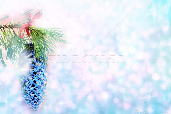 Crăciun ornament ramură pin Imagine de stoc © StephanieFrey