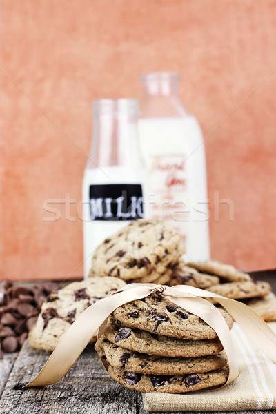 Chocolate Chip Cookies and Cream Stock photo © StephanieFrey