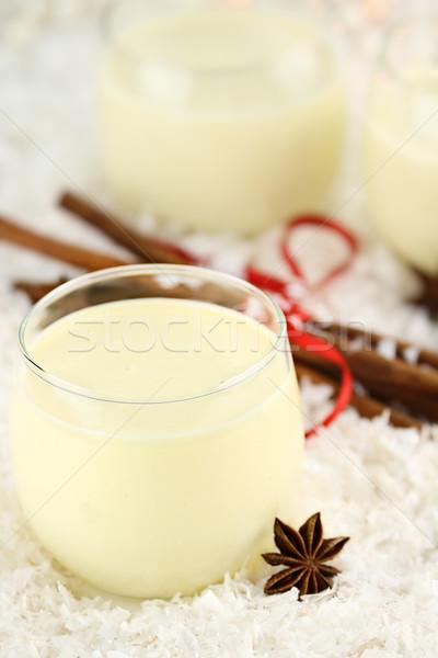 Glass of Eggnog Stock photo © StephanieFrey