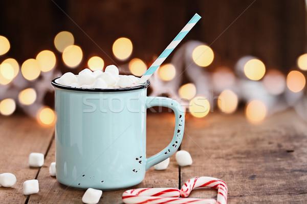 Sıcak emaye fincan mini şeker biçim Stok fotoğraf © StephanieFrey