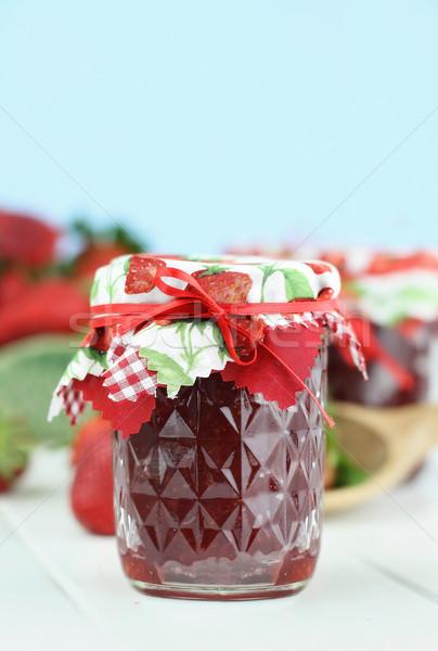 клубника Jam свежие домашний мелкий области Сток-фото © StephanieFrey