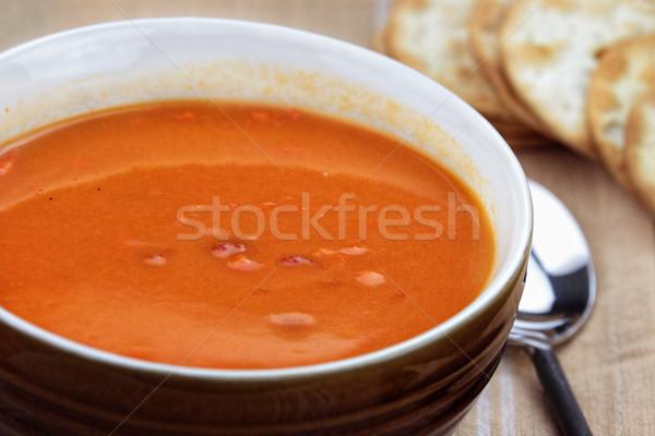 Delicious Tomato Bisque Stock photo © StephanieFrey